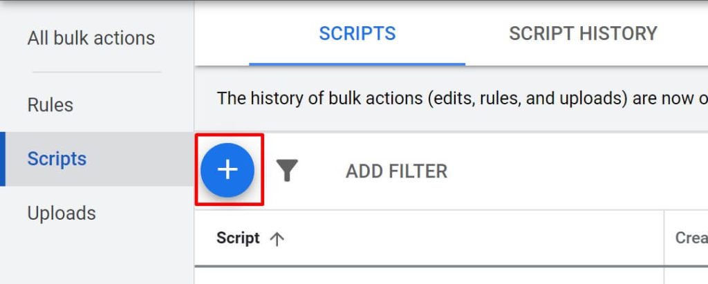 Add Scripts - google ads