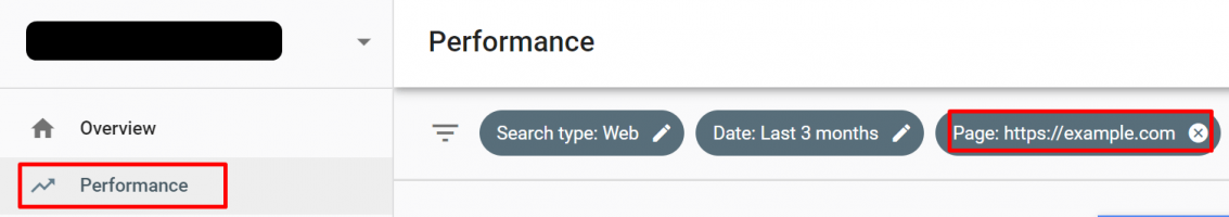 Search Console - Performance - Keywords by Page
